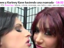 Jayden James y Kortney Kane haciendo una mamada