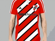Camiseta de River Tricolor con Corel