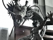Dragon Ball Z: Estatua de Goku y Shenlong