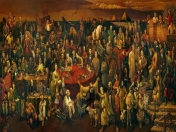 Famous People Painting - Discussing the Divine Comedy