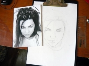 Dibujo de Amy Lee Evanescence