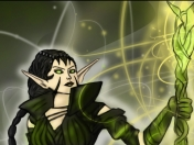 Nissa Revane Speed Drawing Magic the Gathering Planeswalker