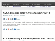 CCNA v5 exam answers Routing and Switching