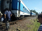 Descarrilo un tren en Moron!!