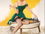 female celebrities photographed as vintage pin up models