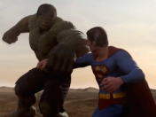 Como Seria una pelea Superman vs. Hulk...? (Video)