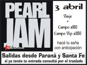 Pearl Jam + The Black Keys (Viaje y Entradas)