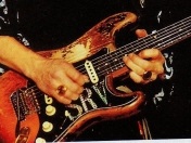 las guitarras del gran Stevie ray Vaughan