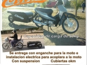 Single wheel Trailer-Trailer para motos-Porta equipaje