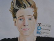 Ruben Morales Drawing Luke Hemmings / Dibujando dibujos 5sos
