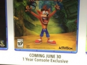 Crash Bandicoot Trilogy sería exclusivo de PS4 un año