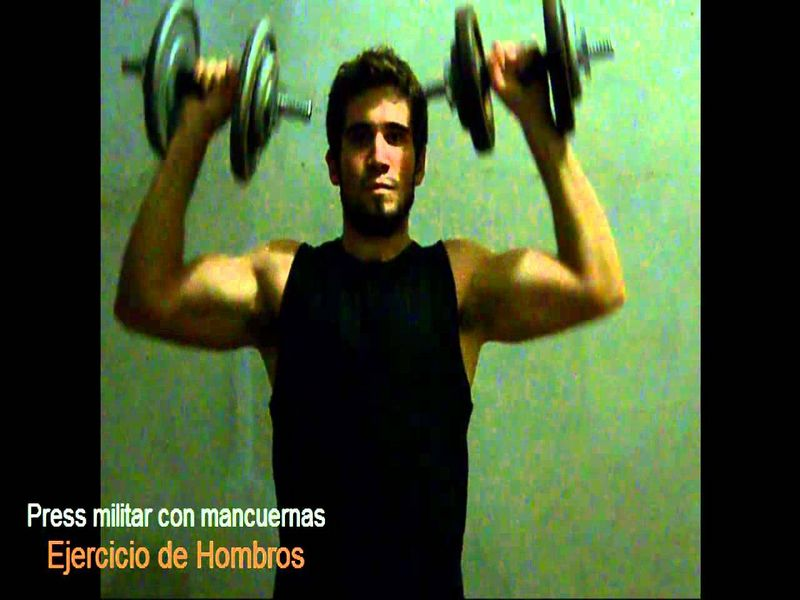 press militar con mancuernas hombro