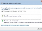 Problema de .NET Framework, en Windows 8