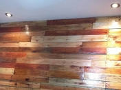 Pared revestida de madera que hice! Es post top