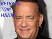 Retratos De Famosos #48.Tom Hanks.Actor De Forrest Gump.2015