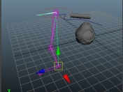 3D Constrains de superficie y Pole Vector con Maya