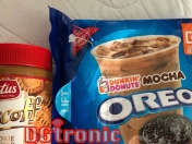 Dunkin Donuts mocha Oreo with Biscoff cookie butter