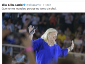 Urgente: Elisa Carrio turn that for what. No tomo alcohol
