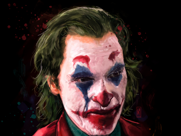 The Joker (ilustración digital) published in Videos online