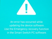 An error has occurred while updating the device software